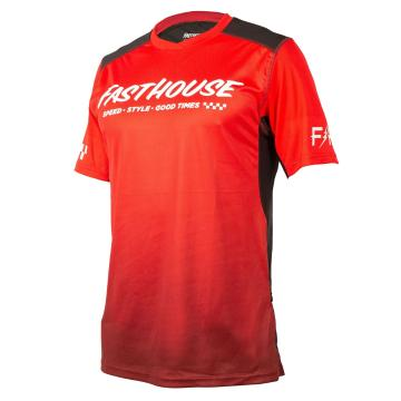 Fasthouse Youth Alloy Slade Short Sleeve Jersey - Red/Black