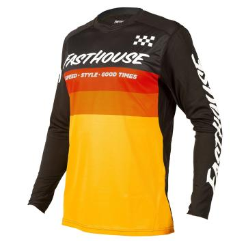 Fasthouse Youth Alloy Kilo Long Sleeve Jersey - Black/Yellow