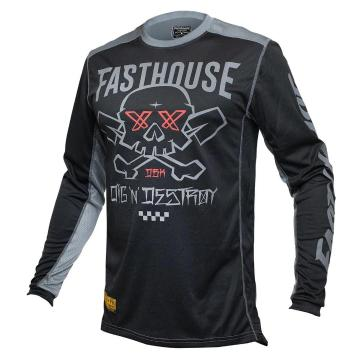 Fasthouse Grindhouse Twitch Jersey - Black/Charcoal
