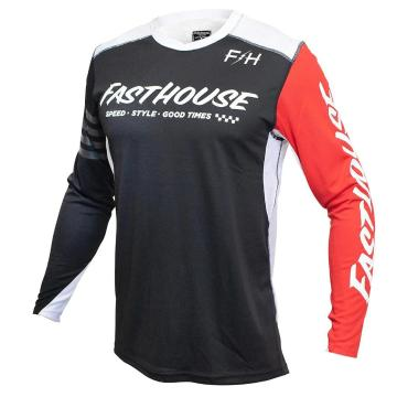 Fasthouse Raven Moto Jersey - Black/Red