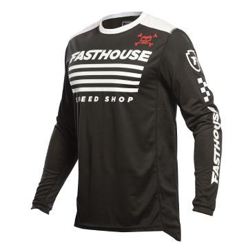 Fasthouse Grindhouse Halt Moto Jersey - Black/White
