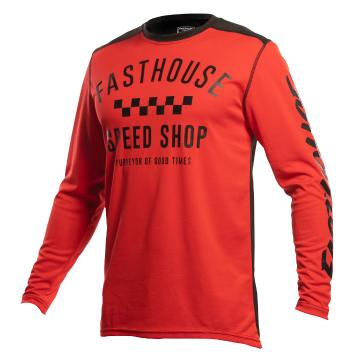 Fasthouse Carbon Moto Jersey - Red/Black - Red/Black