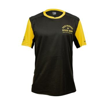 Fasthouse Youth Alloy Nelson Short Sleeve MTB Jersey - Black/Gold