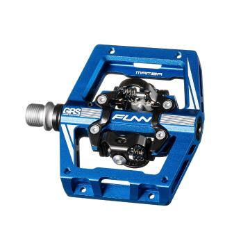 Funn Mamba S Two-Sided SPD Pedals - Anodised Blue