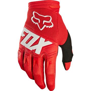Fox Youth Dirtpaw Race Gloves - Red