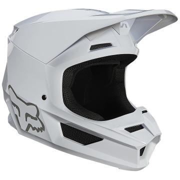 Fox V1 Plaic Helmet ECE - White - White