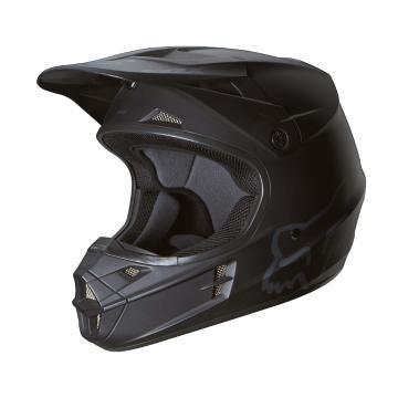 Fox V1 Matte Helmet Matte Black - ECE