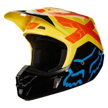 Fox V2 Preme Helmet - Black/Yellow