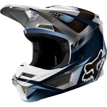 Fox V1 Motif Helmet - Blue/Grey