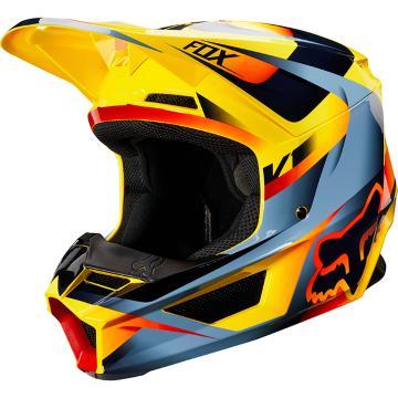Fox 2019 V1 Motif Helmet - Yellow