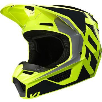 Fox Youth V1 Prix Helmet ECE - Black/Yellow