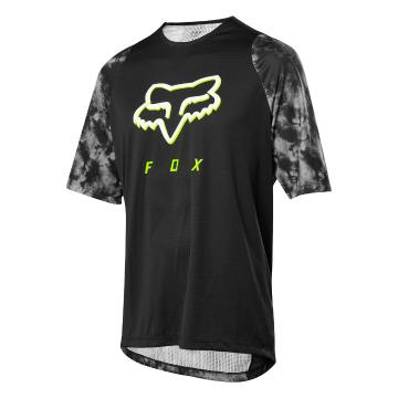 Fox Defend Short Sleeve Elevated Jersey - Black - Black