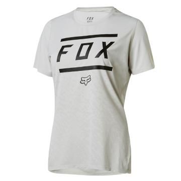 Fox Women's Ripley Short Sleeve Bars Jersey - Cool Grey
