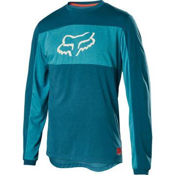 Fox 20 Ranger Dri-Release Long Sleeve Foxhead Jersey - Maui Blue
