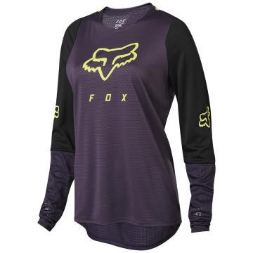 Fox Women's Defend Long Sleeve Jersey - Dark Purple