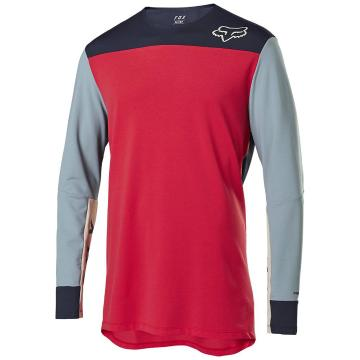 Fox Defend Delta Long Sleeve Jersey - Bright Red