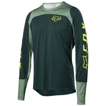 Fox Defend Long Sleeve Jersey - Emerald - Emerald