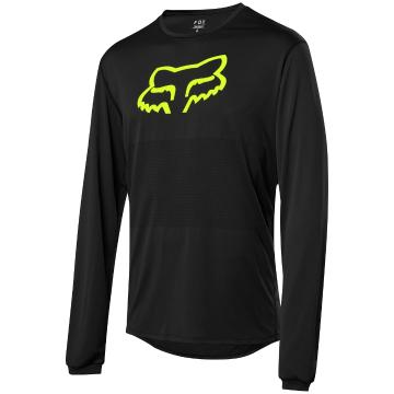 Fox Ranger Long Sleeve Foxhead Jersey - Black