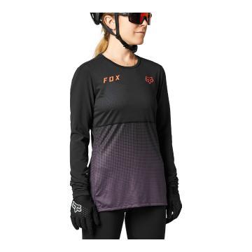 Fox Women's Flexair Long Sleeve Jersey - Black/Purple