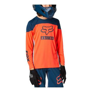 Fox Youth Defend Long Sleeve Jersey - Atomic Punch