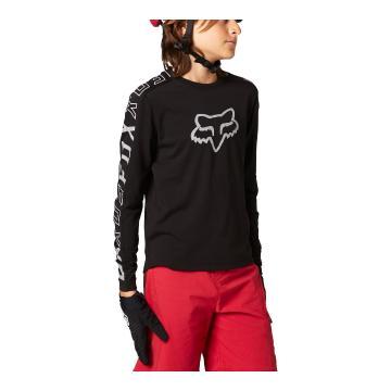 Fox Youth Ranger DR Long Sleeve Jersey - Black