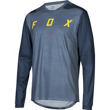 Fox Indicator Mash Camo Long Sleeve Jersey - Blue Slate