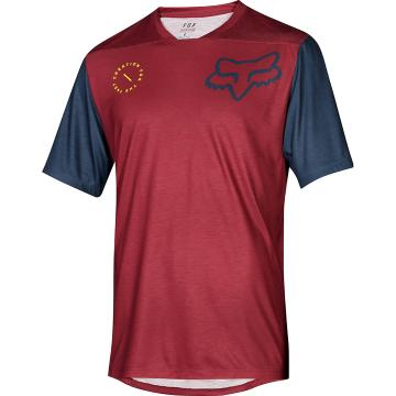 Fox Indicator Asym Short Sleeve Jersey - Cardinal