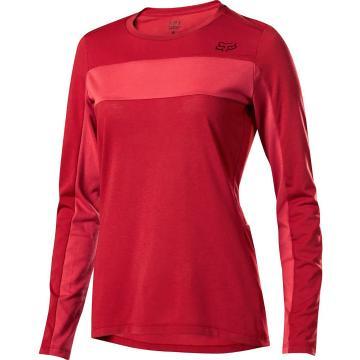 Fox Women's Ranger DR LS Jersey - Cardinal Red