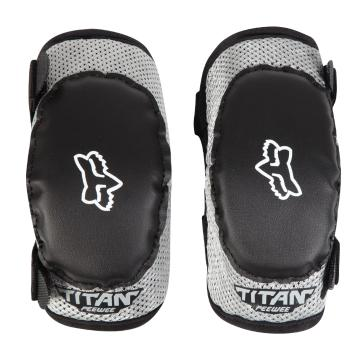 Fox Kids Titan Elbow Guards - Black/Silver