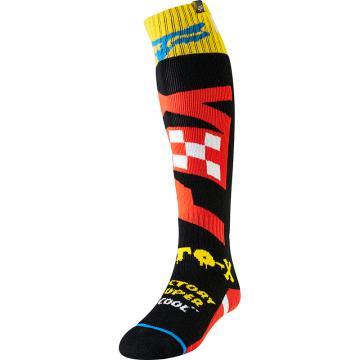 Fox 2019 Fri Czar Thin Sock - Black/Yellow