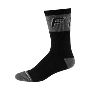 "Fox 8"" Winter Wool Socks - Black"