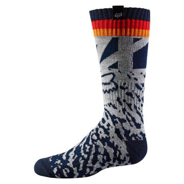 Fox 2018 Girls Socks - Grey/Orange