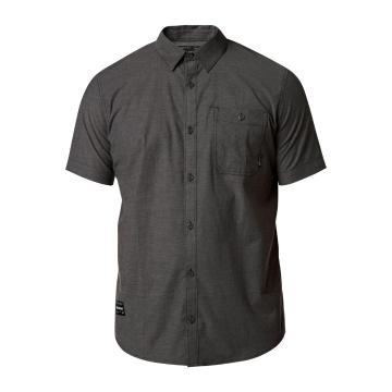 Fox Men's Baja Short Sleeve Woven Shirt  - Heather Black