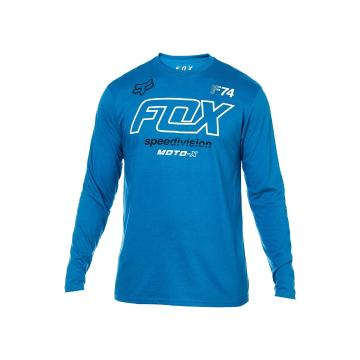 Fox Men's Assesing Long Sleeve Tee - Dusty Blue