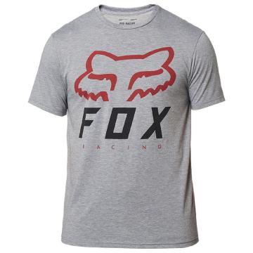 Fox Heritage Forger Short Sleeve Tech Tee - Graphite/Red