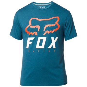 Fox Heritage Forger Short Sleeve Tech Tee - Heather/Maui Blue