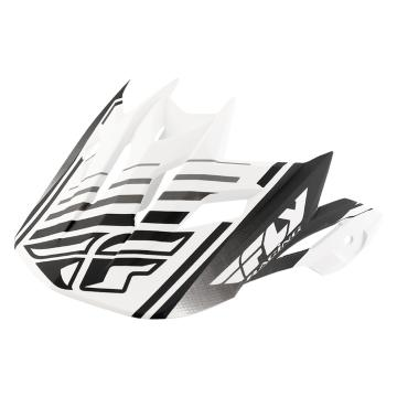 Fly Racing Default Visor - White/Black