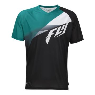 Fly Racing Super D Jersey - Black/Teal/White