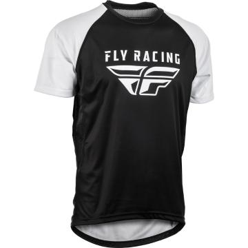 Fly Racing Super D Jersey - Black/White