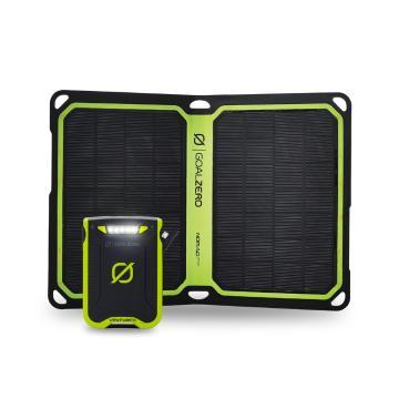 Goal Zero Venture 30 Solar Kit w Nomad 7+ - Zero Green/Black