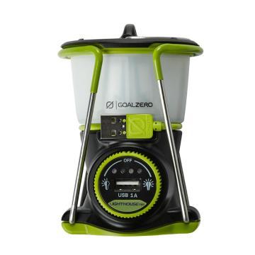 Goal Zero Lighthouse Mini Lantern - Silver/Zero Green/Black