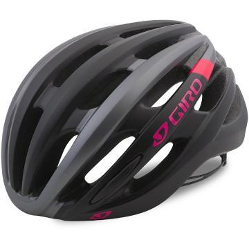 Giro 2020 Saga Womens Helmet - Matte Black/Pink Race