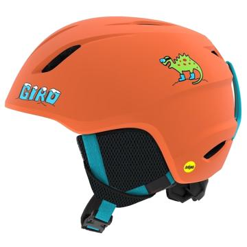 Giro 2019 Youth Launch MIPS Snow Helmet - Mat Deep Orange Dino