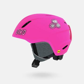 Giro 2019 Youth Launch MIPS Snow Helmet - Mat Bright Pink