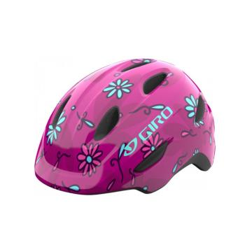 Giro Scamp Youth Helmet - Pink Sugar Daisies