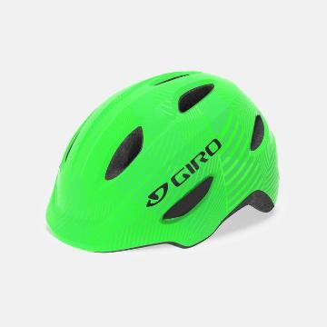 Giro 2020 Scamp Kids Helmet - Green/Lime Lines
