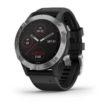 Garmin Fenix 6 Watch - Silver w/Blk