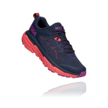 HOKA ONE ONE Women's Challenger ATR 6 Wide - Black Iris/Hot Coral
