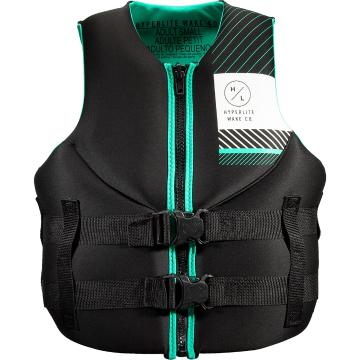 Hyperlite 2021 Women's Neoprene PFD3 Vest - Black/Teal
