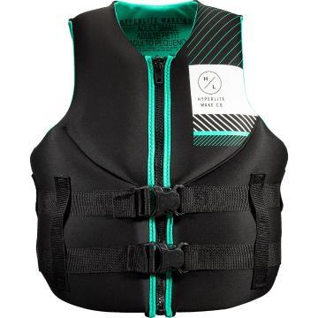 Hyperlite 2021 Women's Neoprene PFD3 Vest - Black/Teal